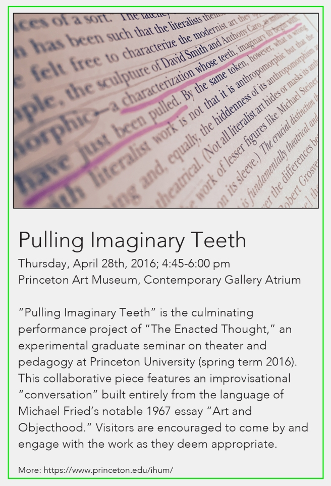 Pulling Imaginary Teeth -- flyer card draft