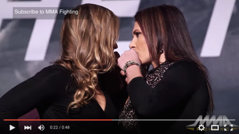 Rousey stare down