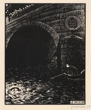 The suicide (Le Suicide) 1894. Félix VALLOTTON
